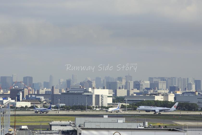 日本航空A350-900型機が初上陸!6月14日の羽田空港にて